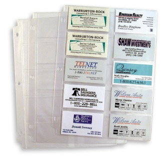 Frosty Easy Viewing Sheets Hold Up To 20 Business Cards Back Three Hole Punched And Ready For Insertion Into Binder