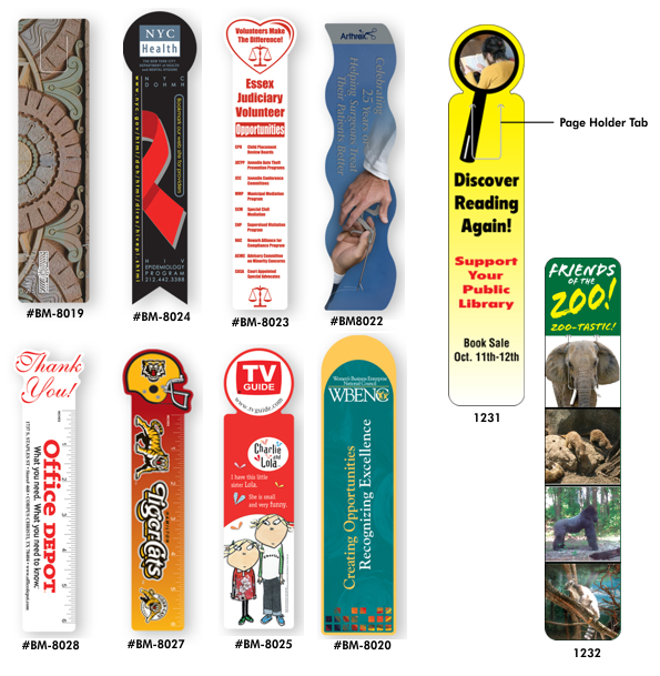 lets print baby diecut shaped bookmarks printing services