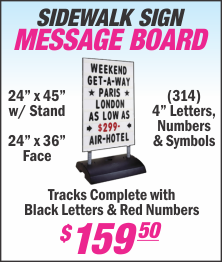 Lets Print Baby, Sidewalk Signs, Signage, Woodbridge, Middlesex County, NJ