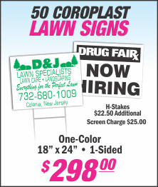 Lets Print Baby, Woodbridge, NJ, Middlesex County, Lawn Signs