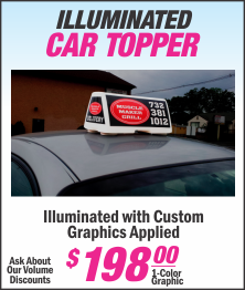 Lets Print Baby, Woodbridge, Middlesex County, Car Toppers, Signs, NJ